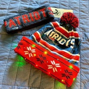 Patriots winter hat and head band
